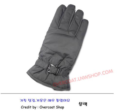ถุงมือกันหนาวผ้า ชาย สีเทา