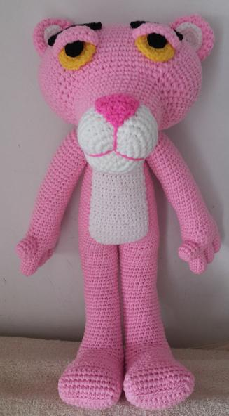 ตุ๊กตาถักไหมพรมพิงค์แพนเตอร์