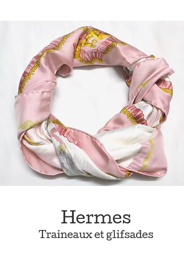 "HERMÈS Silk Scarf ""Traineaux et Glifsades"""