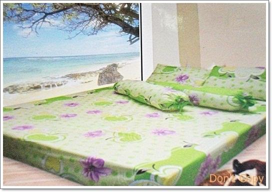 ชุดผ้าปูเตียง ลายผลไม้ 6 ฟุต 5 ชิ้น