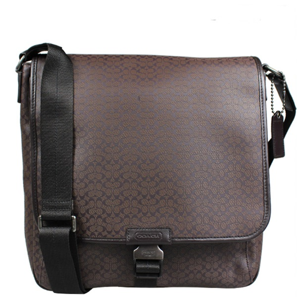 พร้อมส่ง กระเป๋าผู้ชาย COACH HERITAGE SIGNATURE MAP BAG F70765