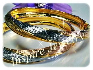 กำไล 3กษัติรย์ gold plated, white gold plated , pink gold plated