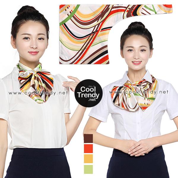 ผ้าพันคอสำเร็จรูป ผ้ายูนิฟอร์ม uniform ผ้าไหมซาติน : L37