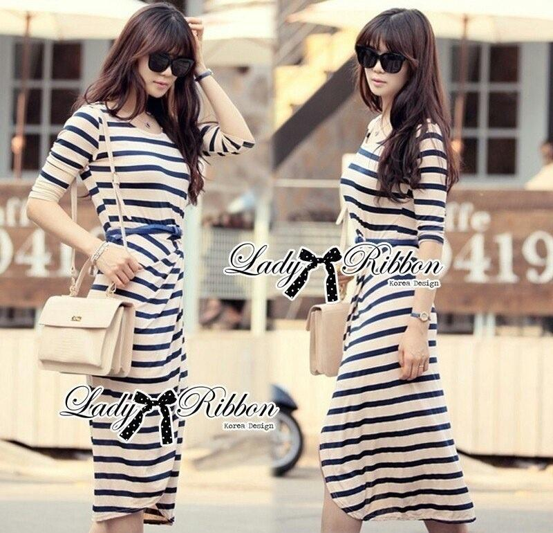 Lady Ribbon's Made Jersey Stripe Slip Dress