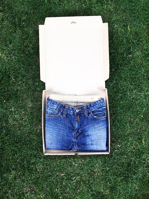 C005 กล่องลูกฟูก ขนาด 29.5*29.5*4 ซม. (10 ใบ)