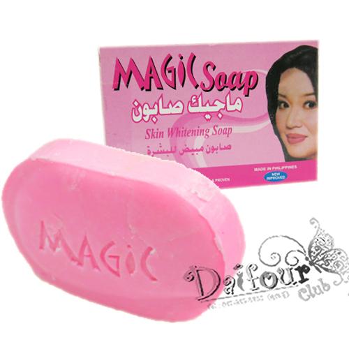 MAGIC Skin Whitening Soap135g สบู่เมจิกปรับผิวขาวใสมีกลิ่นหอมมากค่ะ