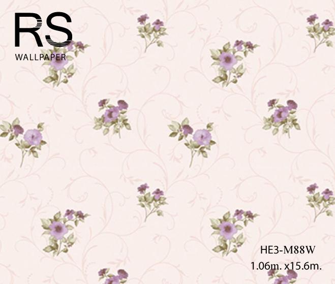วอลเปเปอร์ลายดอกไม้วินเทจ HE3-M88W