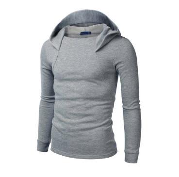 พร้อมส่ง เสื้อกันหนาว สีเทาอ่อน มีฮู้ด แขนจั๊ม แขนยาว ใส่ทับด้วยโค้ท หรือใส่เดี่ยวก็เท่ห์ และอุ่น แมทซ์กับเสื้อผ้าได้ง่าย