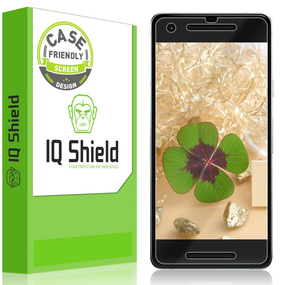 ฟิล์ม Google Pixel 2 [2-Pack], IQ Shield LiQuidSkin Google Pixel 2 (Case-Friendly) Screen Protector