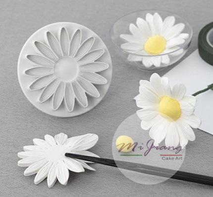 ที่พิมพ์ลายฟองดองท์ พิมพ์กดคุกกี้ Sun flower 3 ชิ้น/เซต (ไม่มีสปริง) (ใหญ่)