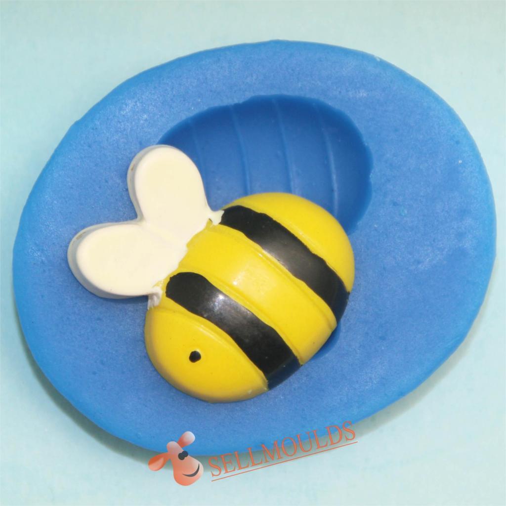 โมล พิมพ์ซิลิโคน รูปผึ้ง (พิมพ์ 2 มิติ)