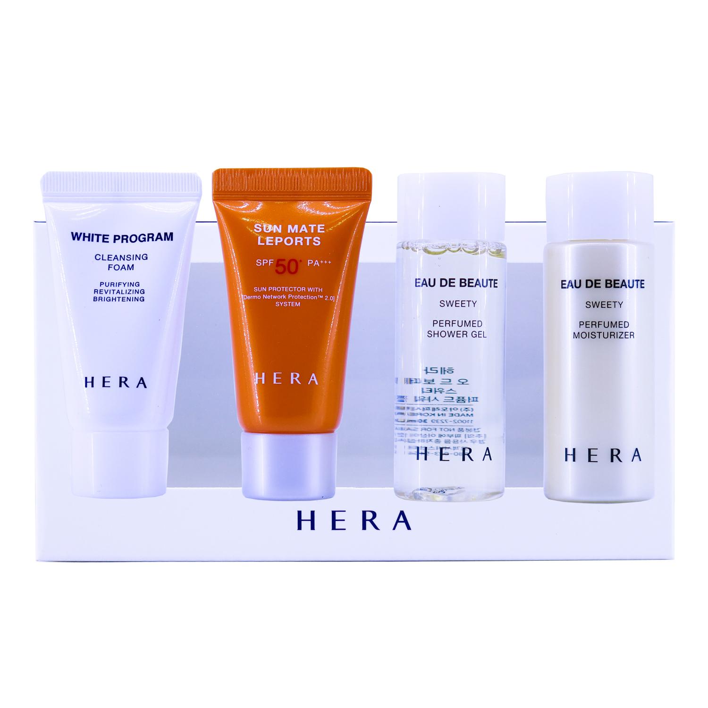 Hera Summer Special Kit 4 items เซทดูแลผิวหน้าและผิวกาย สำหรับผู้ที่ชื่นชอบกิจกรรมกลางแจ้ง หรือเดินทางบ่อยๆ เป็นที่นิยมมากๆค่ะเซทนี้ พกเซทเดียวเที่ยวสบายคะ