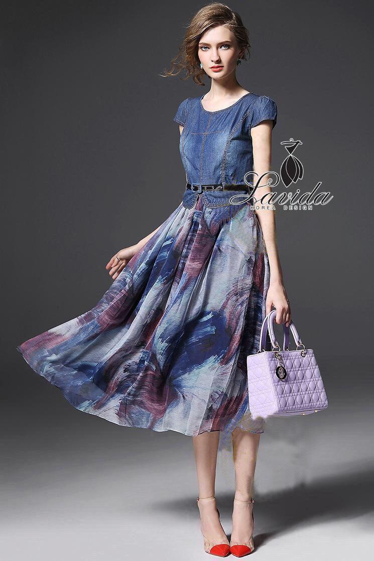 shirt blue denim long maxi dress