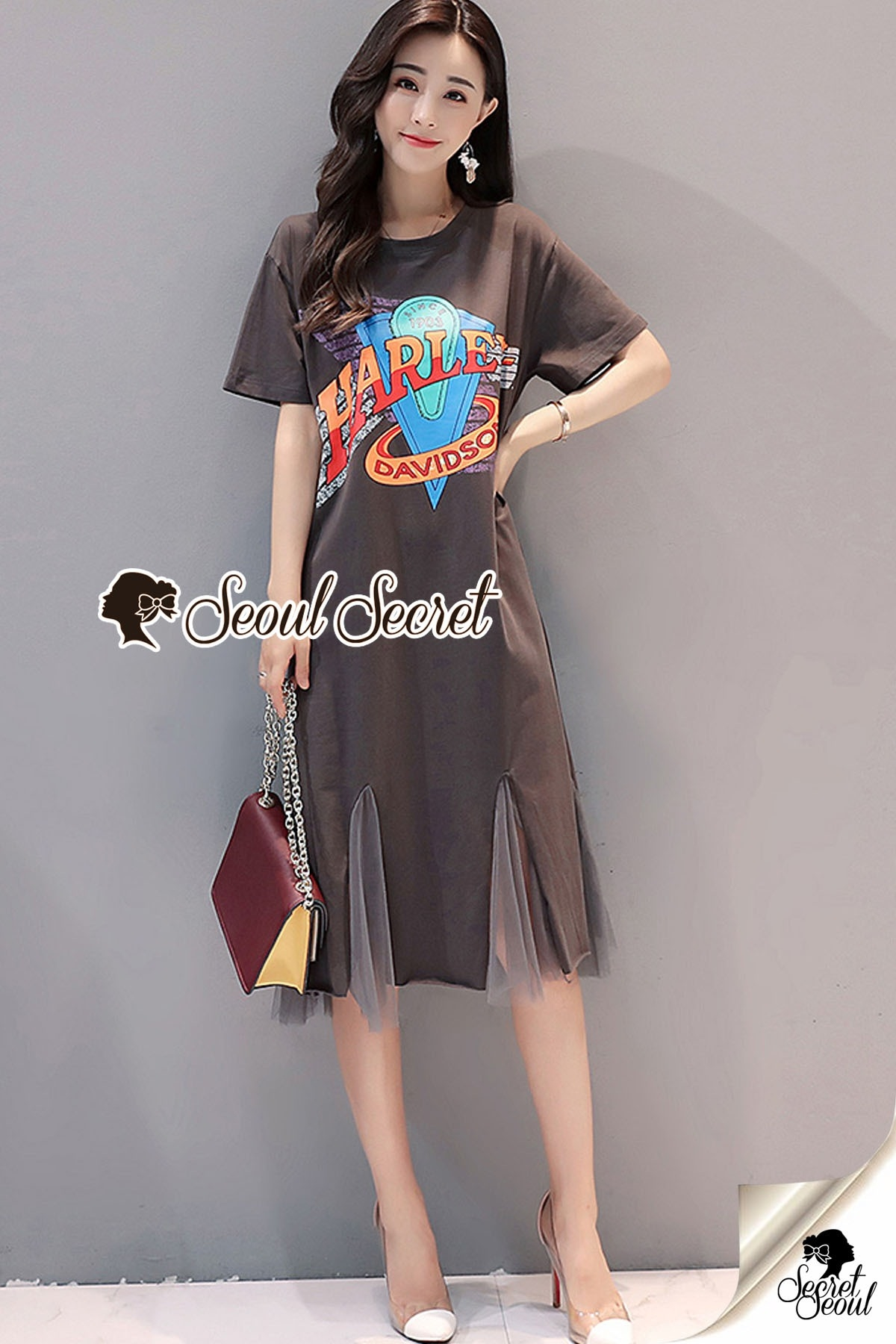 Harley Black&Brown Dress Cutting Off Tail