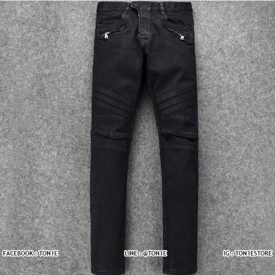 กางเกงBalmain Biker Jeans in Black AW 13(1:1)