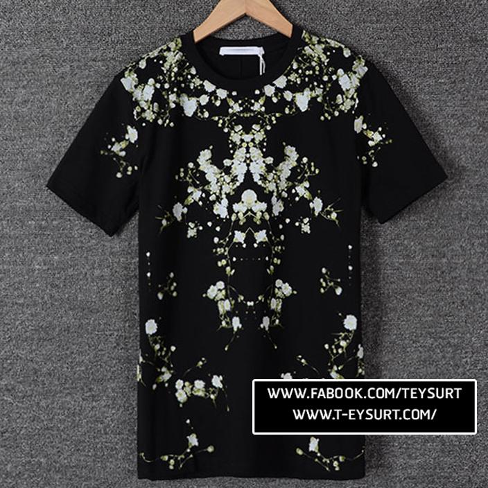 เสื้อยืดGivenchy Floral Colambian SS15
