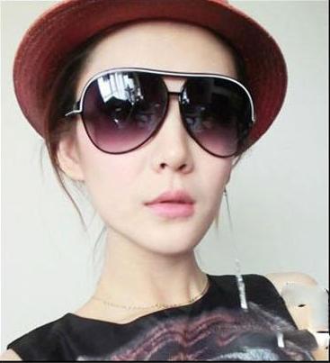 แว่นตากันแดดแฟชั่นเกาหลี color tea