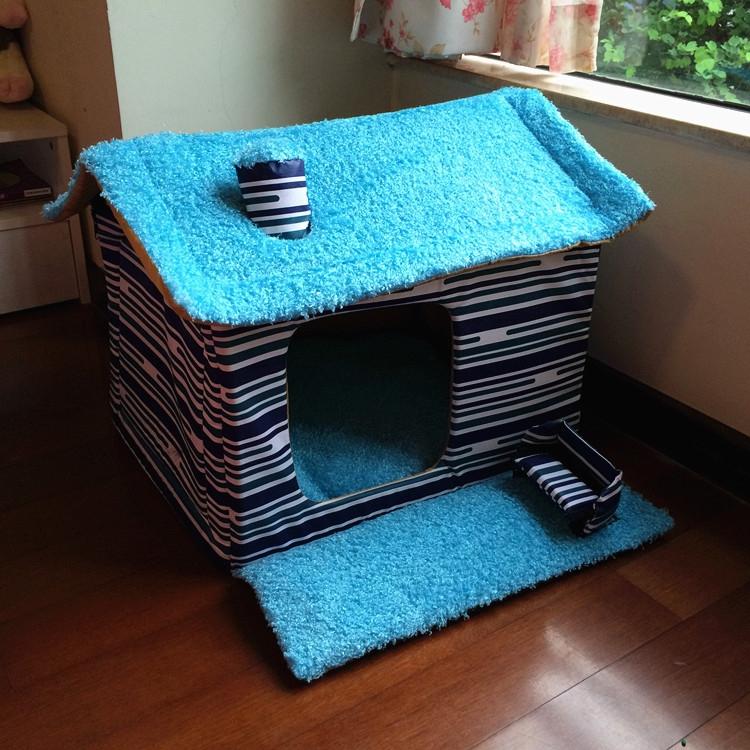 บ้านหมาแมว ทำด้วยผ้าคอตตอนอบอุ่น