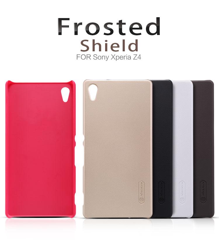 เคส Xperia Z3+ ของ Nillkin Super Frosted Shield Case +ฟิล์มกันรอย