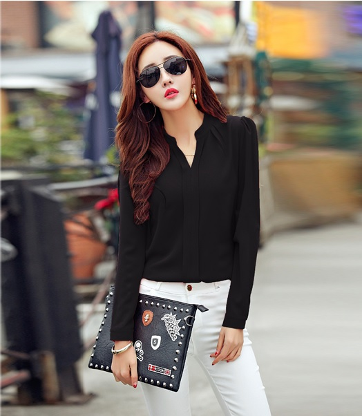 เสื้อเชิ้ตชีฟองสาปหลอก สีดำ