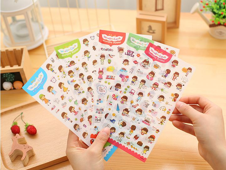 (เซ็ต 6 แผ่น) WanDooCong Everyday Sticker Set