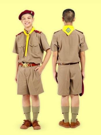 เสื้อนักเรียนตราสมอ ลูกเสือ สีกากี