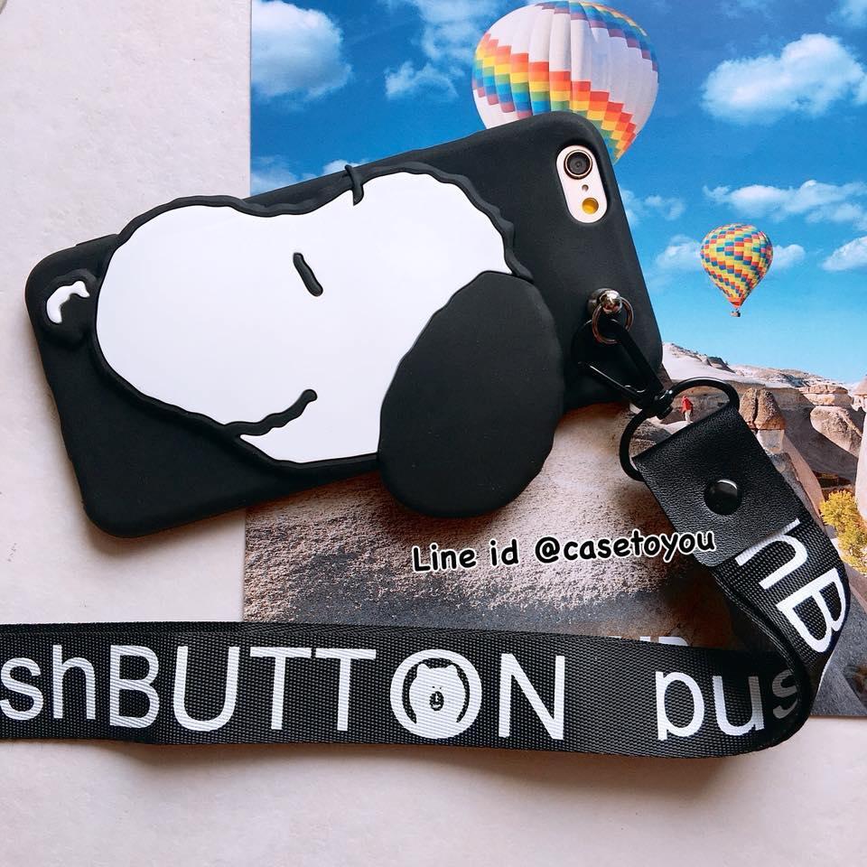 เคสนิ่ม แถมสายคล้องคอ Snoopy iPhone X
