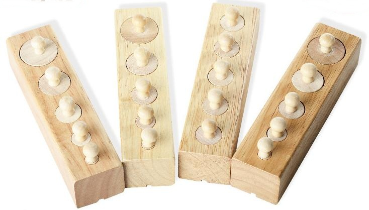 Cylinder Socket - ชุดบล็อคไม้ MONTESSORI Learning Set