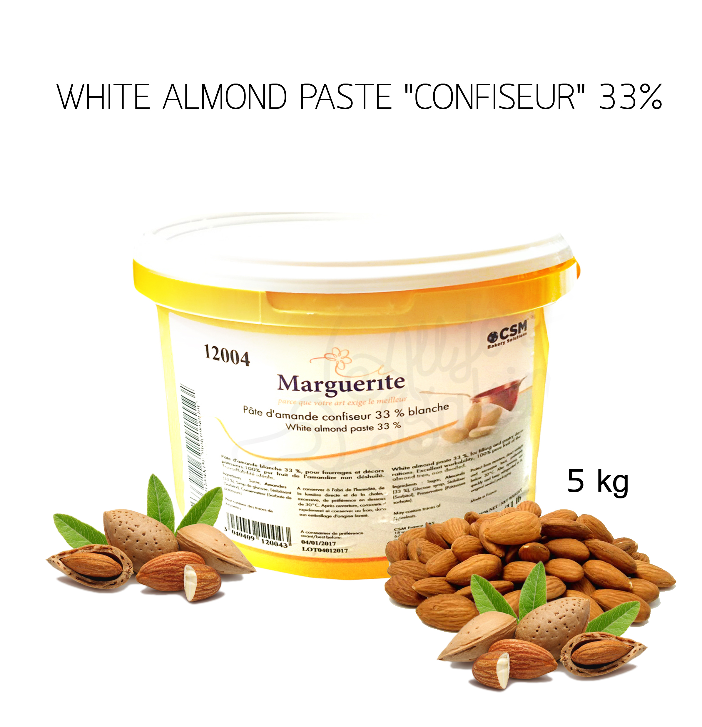 Marguerite fondant33% almond paste 5kg