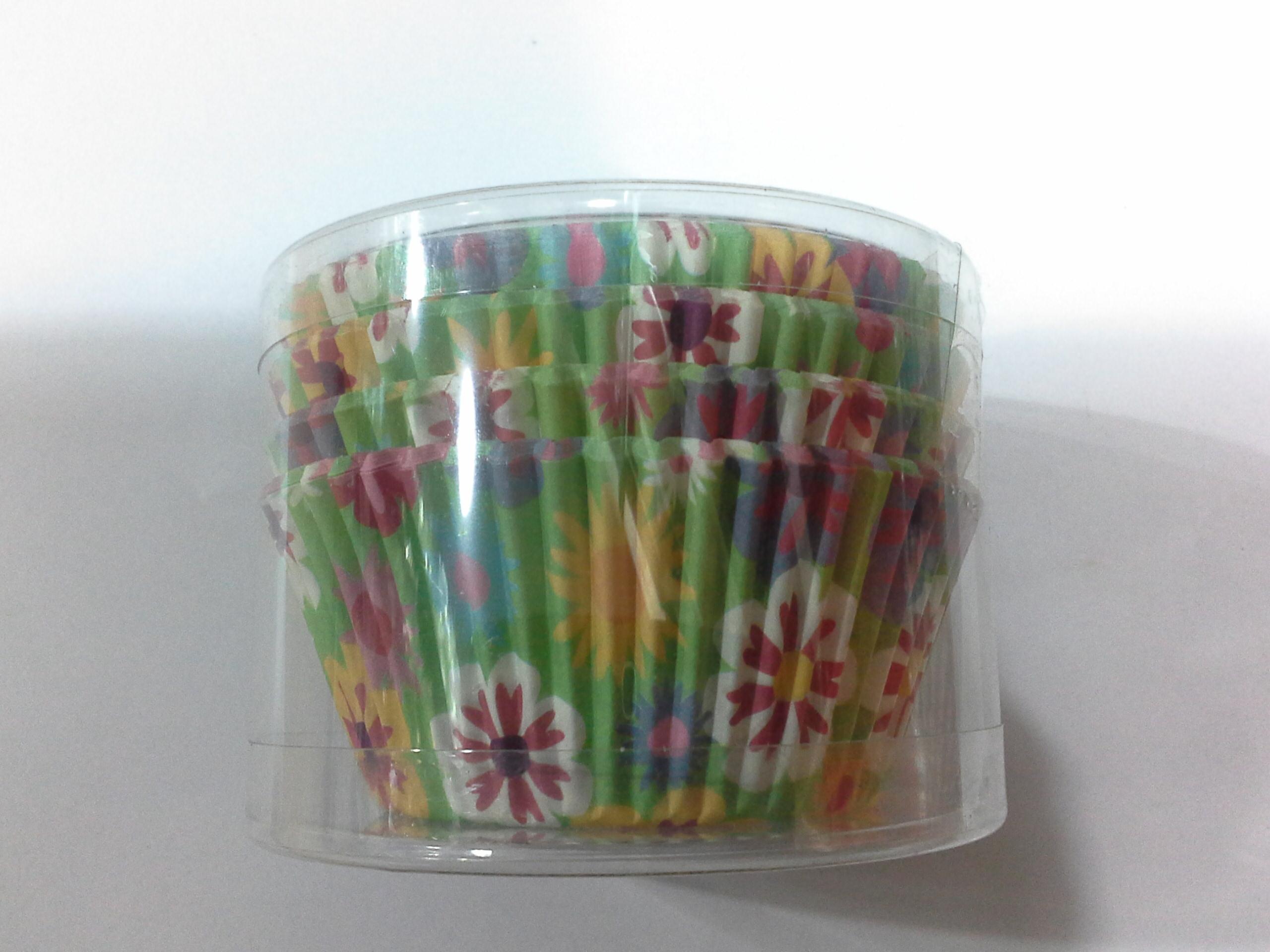 "Cup cake 4.5""(ลายดอกคละสี)100p"