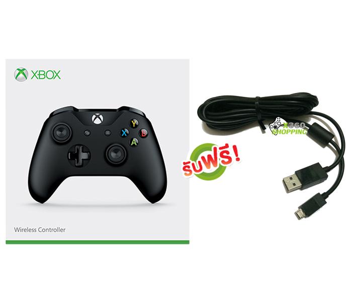 จอย Xbox One S Gen3 Black Controller (Wireless & Bluetooth) (สาย Micro USB) [XBOXONE/PC]