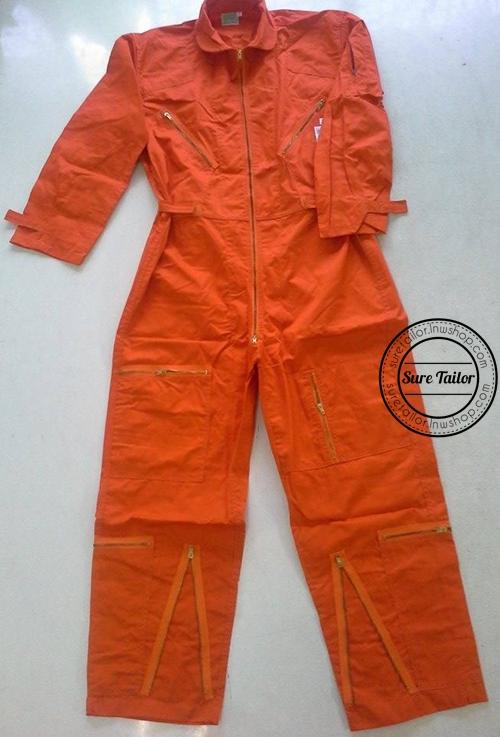 ชุดหมีสีส้ม ผ้าคอมทวิว