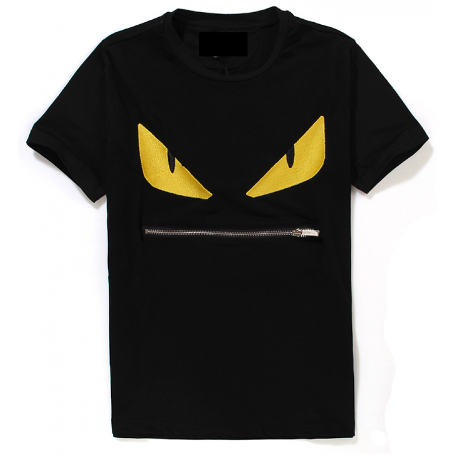 FENDI MONSTER BUG BLACK T-SHIRT
