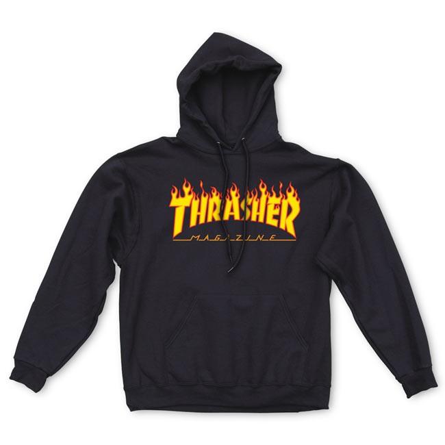 THRASHER FLAM LOGO HOODIE