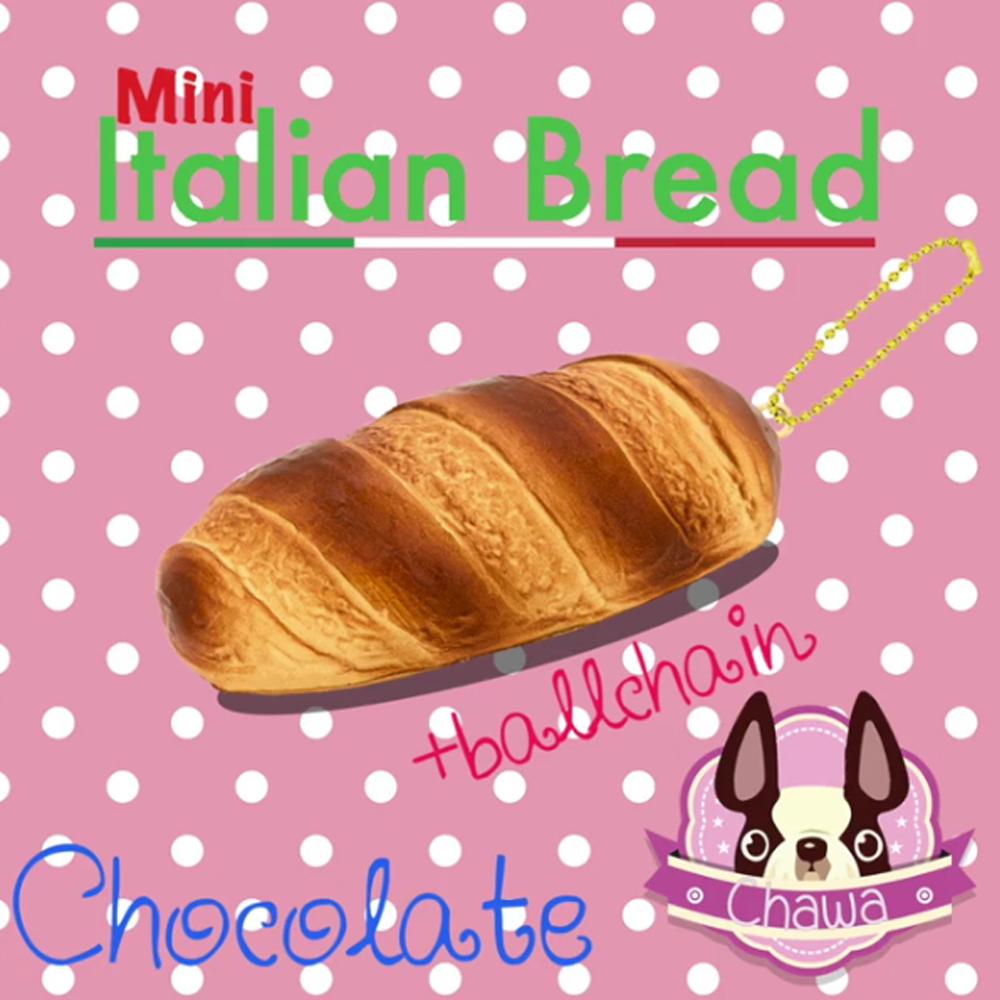 I161 Italian Bread Chocolate Mini by chawaสกุชชี่ อิตาเลียน เบลด มินิ สีช็อคโกแลต (super soft) ขนาด 10 CM