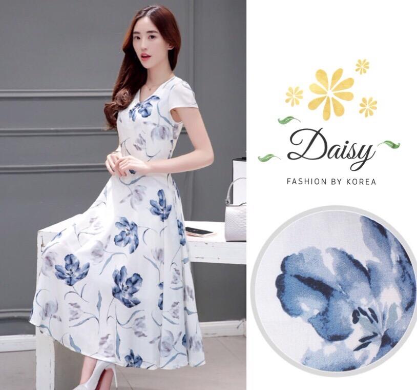 Daisy drawing flower manu dress