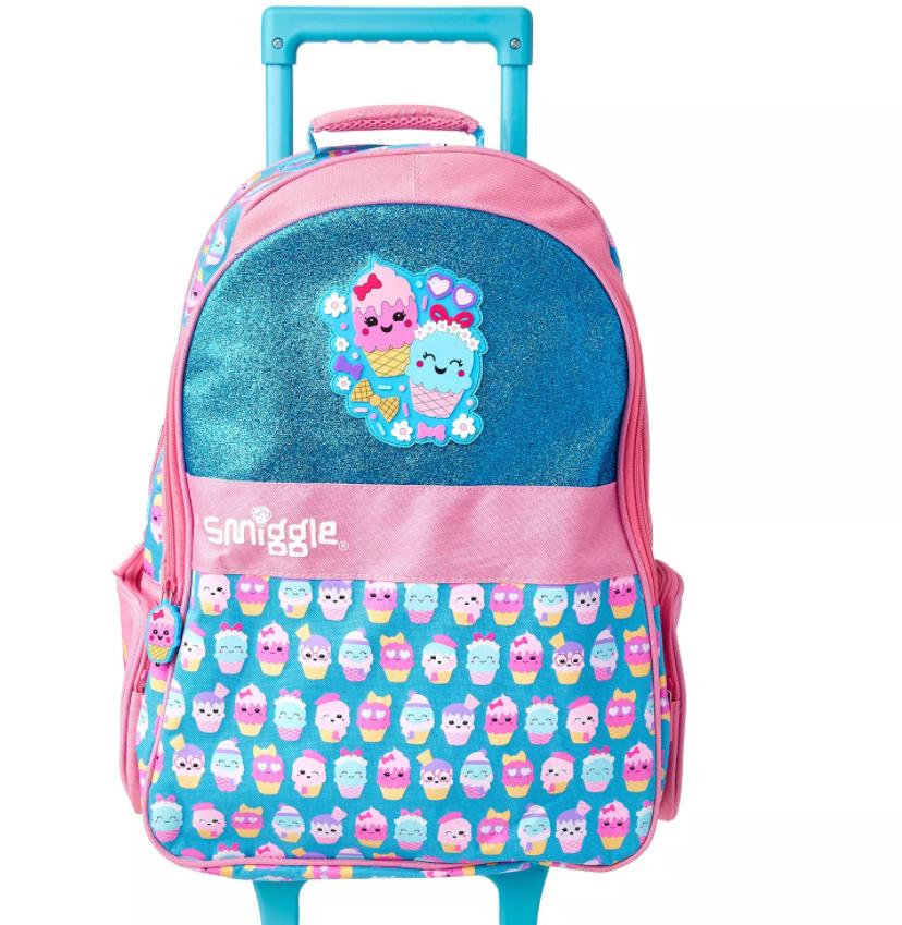 SMB020 กระเป๋าเป้มีล้อ สมิกเกิ้ล Smiggle hola light up trolley backpack