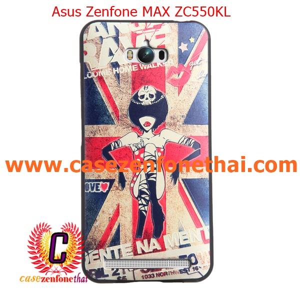 เคส asus zenfone max zc550kl TPU พิมพ์ลาย 3D British Girl