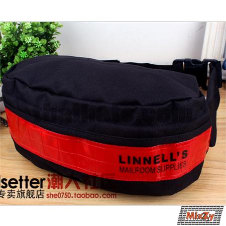 กระเป๋าคาดเอวขี่มอเตอร์ไซค์ 3M สะท้อนแสง LINNELL'S ดำคาดแดง