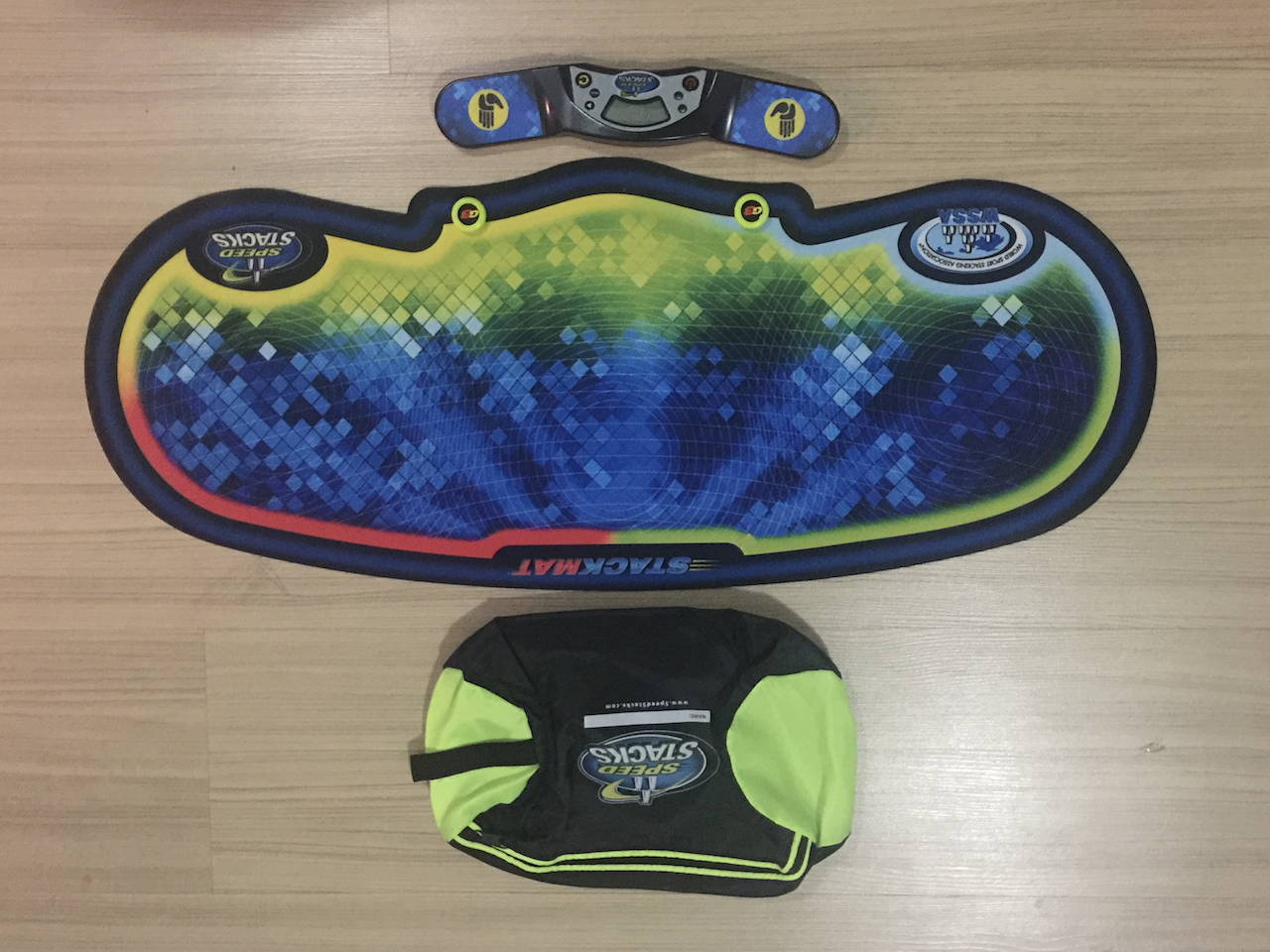 SpeedStacks StackmatPro GEN-4 Timer + Pro Mat ( Voxel Glow ) + Hand Bag