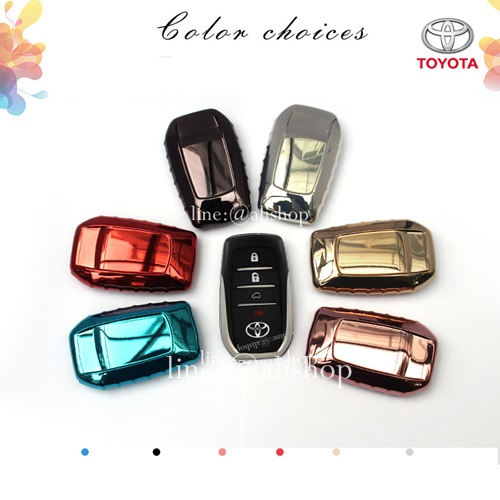 กรอบ-เคสยาง ใส่กุญแจรีโมทรถยนต์ All New Toyota Fortuner TRD/Camry 2015-17 Smart Key 4 ปุ่ม
