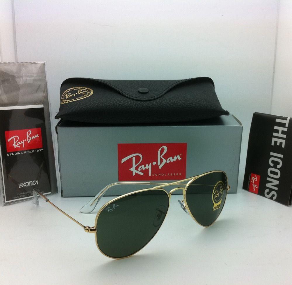 Ray Ban RB3025 w3234 Aviator 55mm Gold frame G-15 lenses