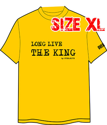 T-SHIRT : LONG LIVE THE KING (SIZE : XL)
