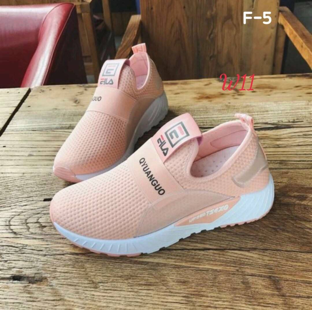 sportskor officiell leverantör 100% äkta รองเท้าผ้าใบแฟชั่น แต่งลายสวยเก๋สไตล์ fila วัสดุอย่างดี ไร้เชือก ...