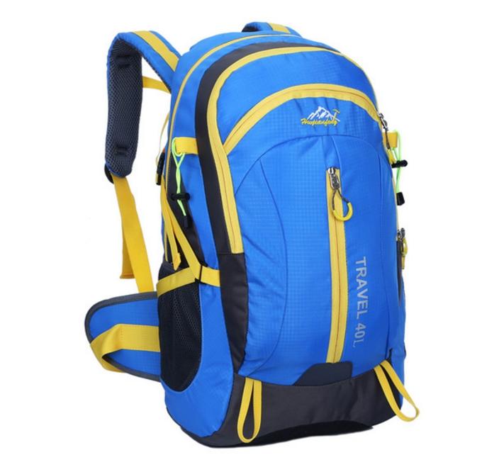 Outdoor mountaineering waterproof 40 ลิตร (สีน้ำเงิน)