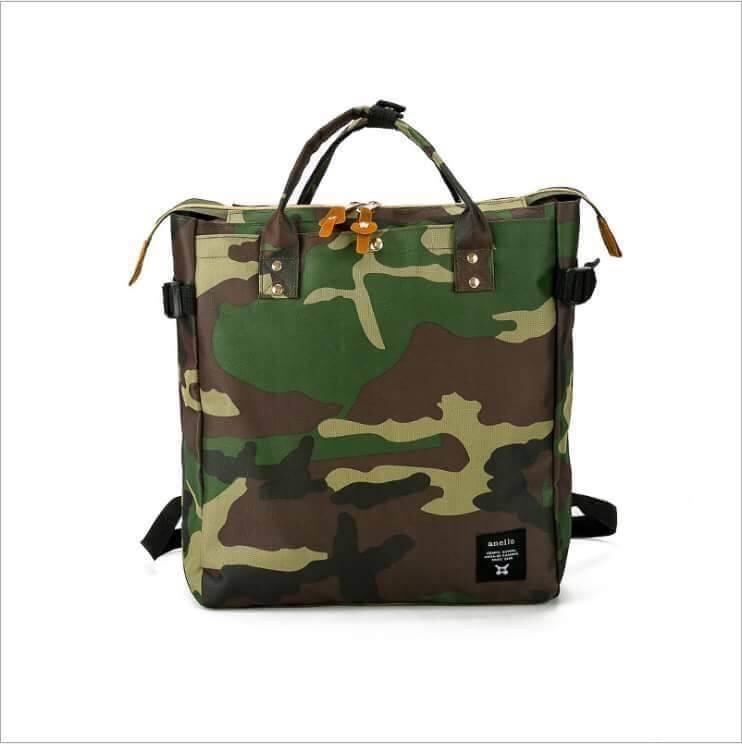 กระเป๋าเป้แฟชั่น สไตล์ anello สุดฮิต ทรง shopping ขนาด ฐาน 12 นิ้ว สูง 14 นิ้ว จุเยอะ ใช้งานได้หลายแบบ สวยคุ้ม มี 4 สี ขาว ชม เทา ทหาร
