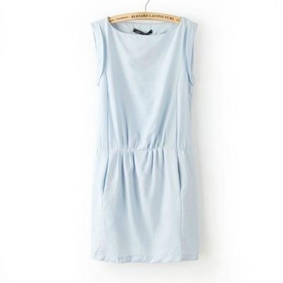 **พรีออเดอร์** ชุดเดรสผู้หญิงแฟชั่นยุโรปใหม่ แขนกุดจัมพ์เอว แบบเก๋ เท่ห์ / **Preorder** New European Fashion Sleeveless with Pocket Dress