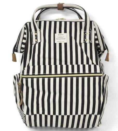 กระเป๋าเป้ Anello Stripe Black (Standard)