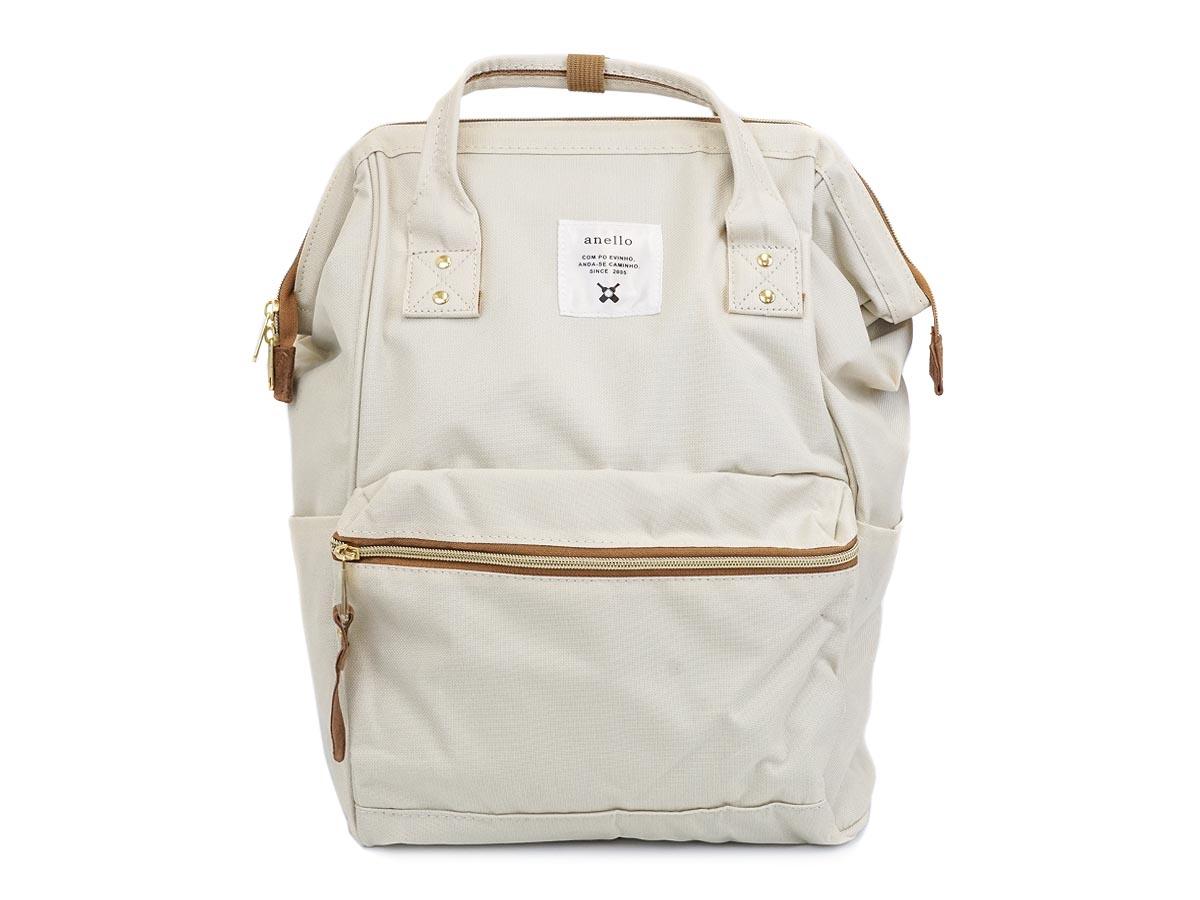 New!! กระเป๋าเป้ Anello Canvas Natural (Standard) ผ้าโพลีเอสเตอร์แคนวาสกันน้ำ