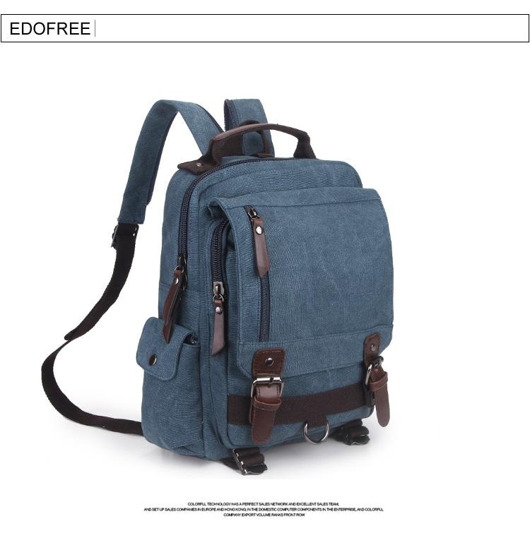 กระเป๋าเป้แฟชั่น EDOFREE Canvas